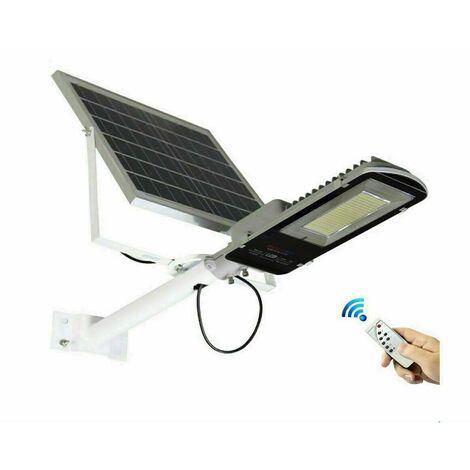 061007 Farola led de 100W con soporte y panel solar crepuscular