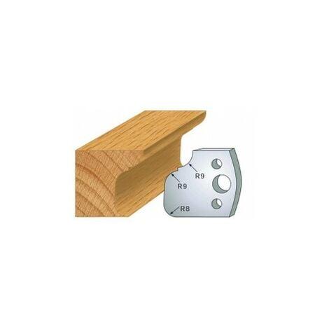 068 : jeu de 2 fers 40 mm moulure pour porte outils 40 et 50 mm