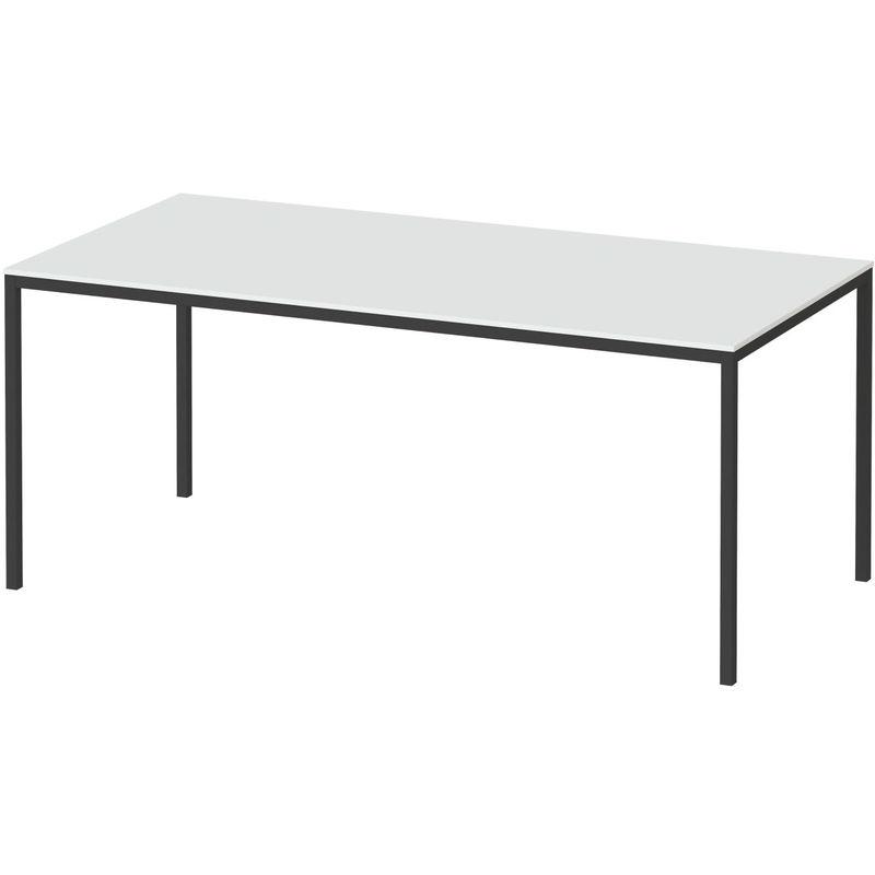 Fall Esstisch 90 * 180 cm weiss und schwarz. 07-75470/014960 - DYNAMIC24