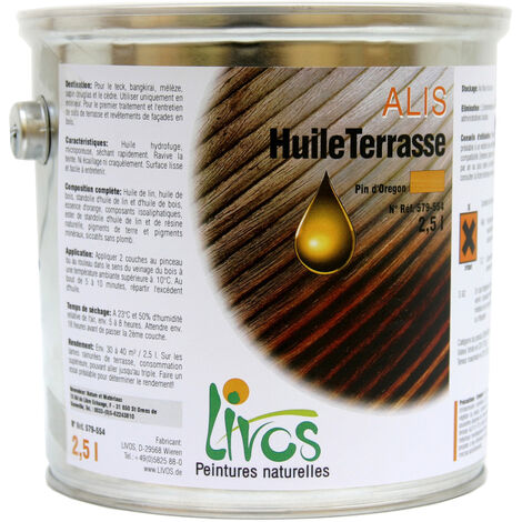 072-CHÊNE - 10L - SATURATEUR BOIS NATUREL TERRASSE ALIS (1L/12M2 EN 2 COUCHES) LIVOS - 072-chêne