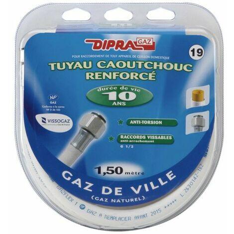 072150 tuyau flex caout 1 5m optima gaz naturel