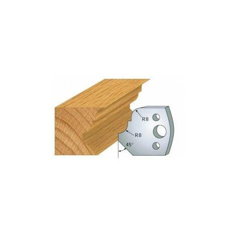 """main image of """"073 : jeu de 2 fers 40 mm moulure Pinocchio pour porte outils 40 et 50 mm"""""""