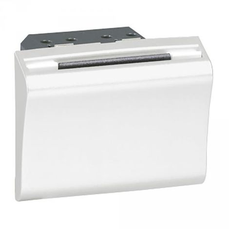 078445 Legrand Mosaico interruttore meccanico distintivo - 2 moduli - bianco