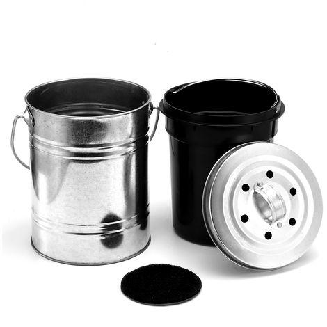 0.8 Gallon Caddy Caddy Bucket Stainless Steel Kitchen Garden Trash Can