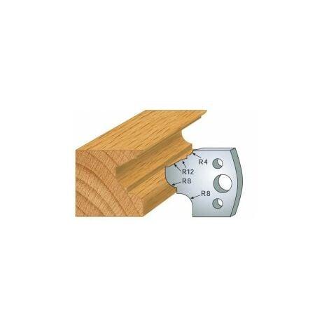 089 : jeu de 2 fers 40 mm moulure pour porte outils 40 et 50 mm