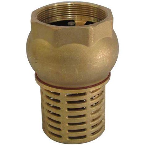 "1 1/2"" bsp female check foot valve suction brass non return valve for pump"