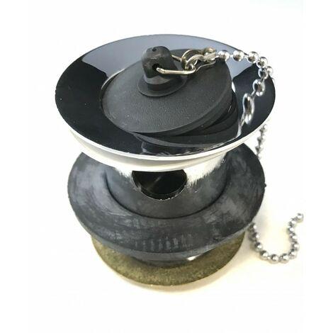 1 1/4 drain d'évier en ciment avec chaîne