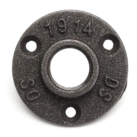 """1/2 """"3 agujeros maleable roscado brida de piso accesorios de tubería de hierro montaje en pared"""