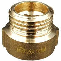 """1/2"""" BSP (15mm) Pipe Thread Extension Female x Male Cast Iron Brass - 10mm long"""