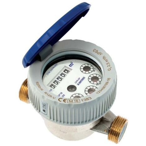 "1/2"" BSP Cold Water Flow Meter Single Jet Semi-dry Dial Protected Rolls"