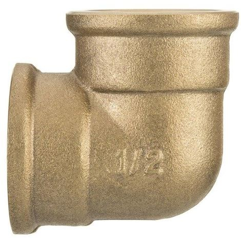 "1/2"" BSP Thread Pipe Connection Elbow Female x Female Screwed Fittings Iron Cast Brass"