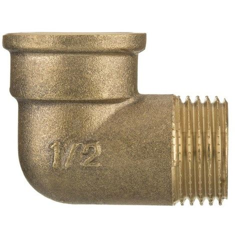 "1/2"" BSP Thread Pipe Connection Elbow Male x Female Screwed Fittings Iron Cast Brass"