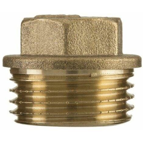 "1/2"" inch bsp thread brass pipe screw hex male blanking plug tube end cap"