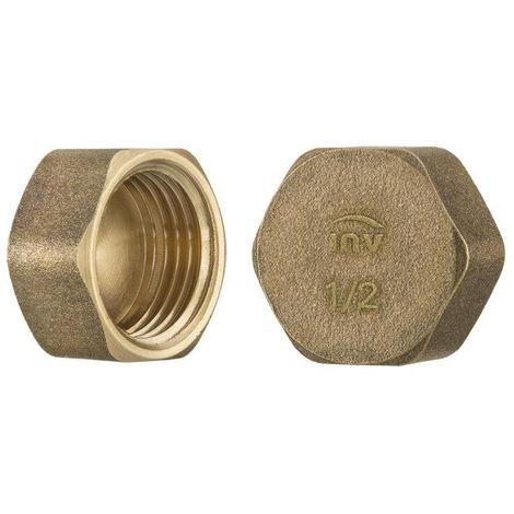 "1/2"" inch thread brass pipe screw hex female blanking plug tube end cap"