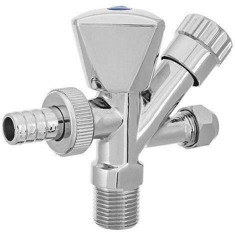 1/2 inlet x 3/4 washing machine outlet x m10 tap outlet connection valve chrome