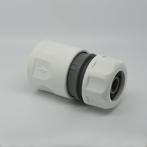 "1/2"" or 5/8"" Quick Hose Connector With STOP - White Line"