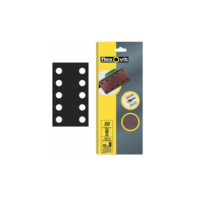 Image of 1/2 Sanding Sheets Perforated Medium 80 Grit (Pack of 10) (FLV26499)
