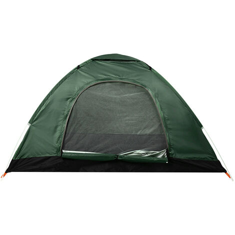 1-2 Person Automatic Rainproof Double Beach Camping Tent for Camping Picnic Tent (Dark Green, Green)