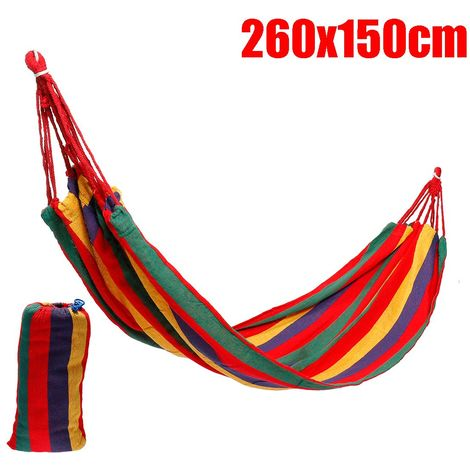 1/2 personne Hamac lit Balancoire Portable corde suspendue Camping randonnée sommeil en plein air ROUGE