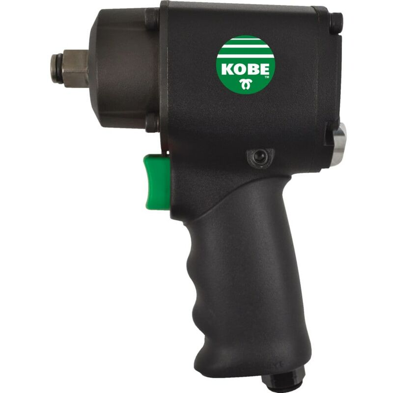 Image of Kobe Green Line 1/2' Stubby Impact Wrench -Twin Hammer