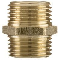 """1/2"""" x 1/2"""" inch bsp male thread pipe connection nipple union joiner fitting brass"""