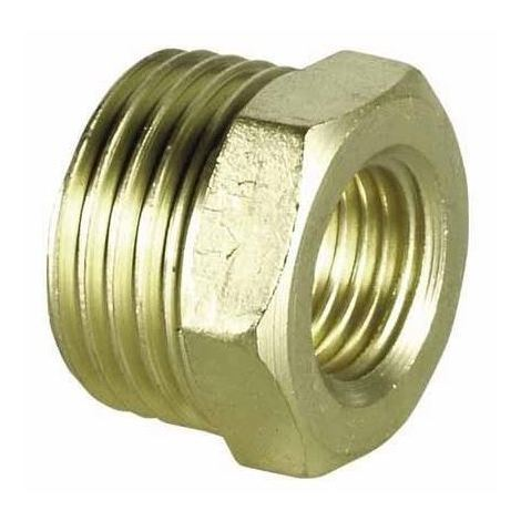 "1/2"" x 1/4"" Male x Female Brass Reduction Nipple Union Fittings for Manometers"