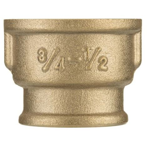 "1/2"" x 3/8"" bsp female thread pipe reduction muff union joiner fitting brass"