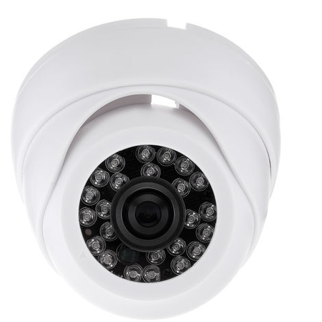 1/4 '' 1200TVL HD Surveillance IP Camera 24 LED Lights Infrared Night Vision 3.6mm 90 ° Lens Viewing Angle