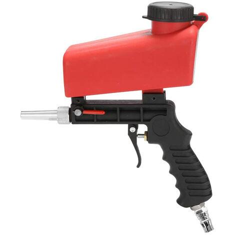 """1/4"""" 90Psi Abs Handheld Air Sablage Machine Debit Reglable Pratique Sableuse Vaporiser Polissage Rouille Enlevement"""