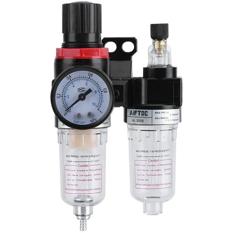 """1/4 """"Filterregler Druckregler Ölabscheider Feuchtigkeitsfalle Kompressor Wasserdruckschmierer Luftfilterregler"""
