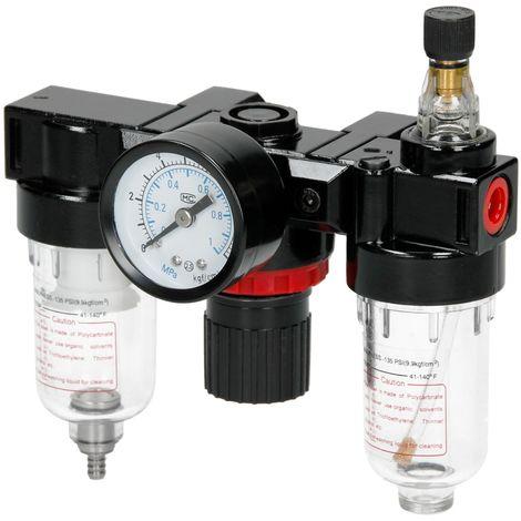 """1/4"""" Filtro regulador lubricador línea compresor de aire medidor de presión"""