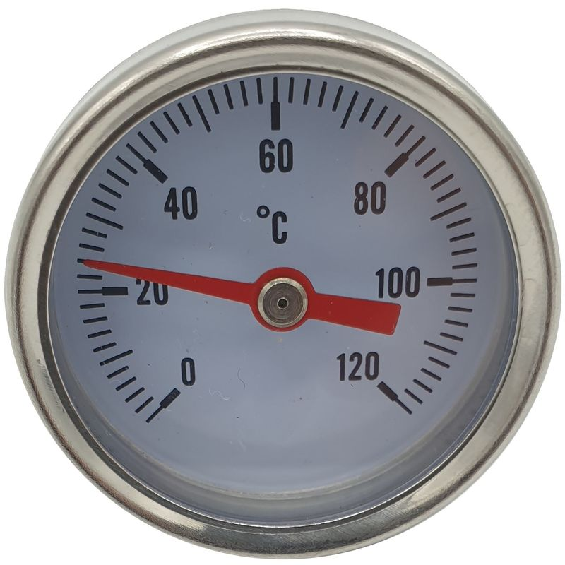 Image of 1/4 Inch Rear Entry 0-120C Thermometer Temperature Gauge 40mm Front Dial