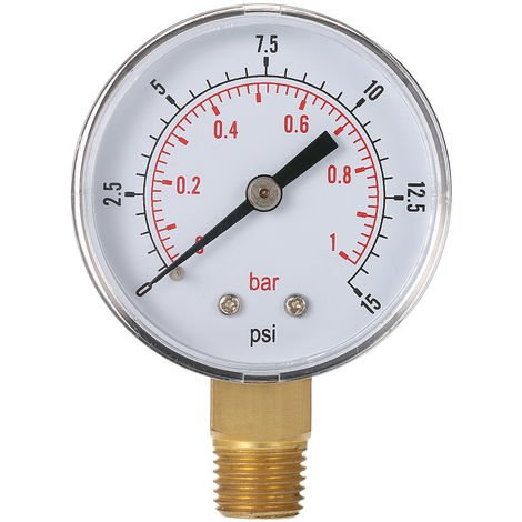 "1/4 ""pressure gauge pressure gauge 0 ~ 15psi 0 ~ 1bar 50mm"