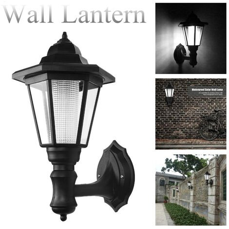 1-4x solar outside wall bracket powered LED lights the garden lantern sealingly lamp Mohoo