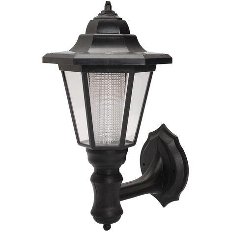 1-4X The Solar Powered Outdoor Wall Mount Led Light Waterproof Garden Lamp Lantern