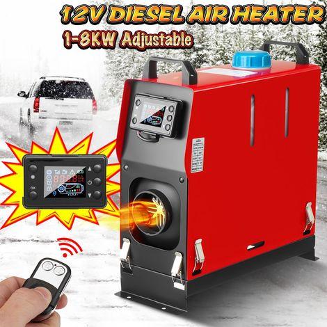 1-8kW 12V Chauffage Véhicule Air Diesels Voiture Réchauffeur LCD Commutateur Télécommande