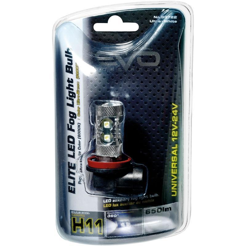 Evoformance - 1 Ampoule Led 12V 24V 50W H11 Blanc