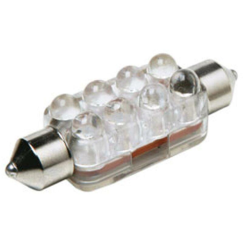 1 Ampoule Navette 8 LEDs Ultra-Brillant -13x36mm - Blanc