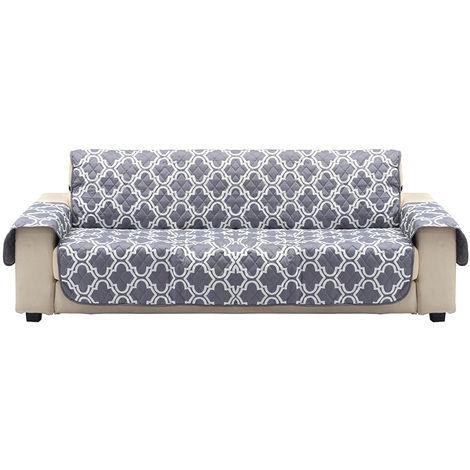1 asiento animal mascota manta protectora gris antideslizante funda de sofá con correa