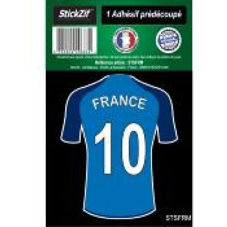 1 Autocollant Maillot De Foot France Generique