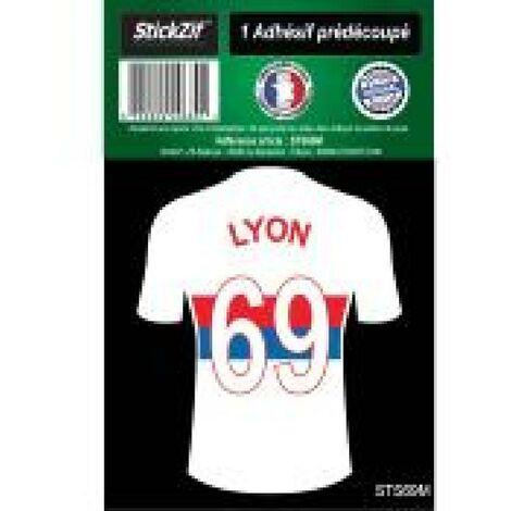1 Autocollant Maillot De Foot Lyon 69 Generique