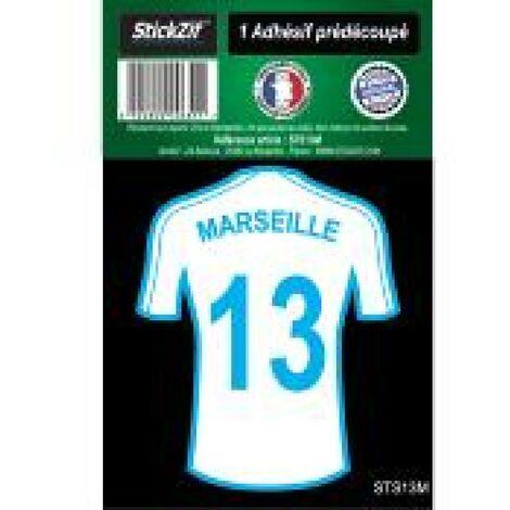1 Autocollant Maillot De Foot Marseille 13 Generique