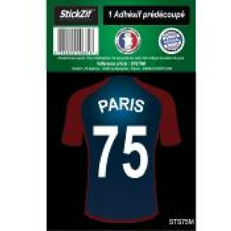 1 Autocollant Maillot De Foot Paris 75 Generique