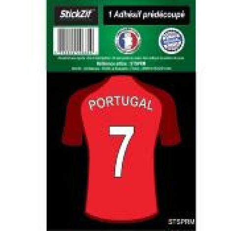 1 Autocollant Maillot De Foot Portugal Generique
