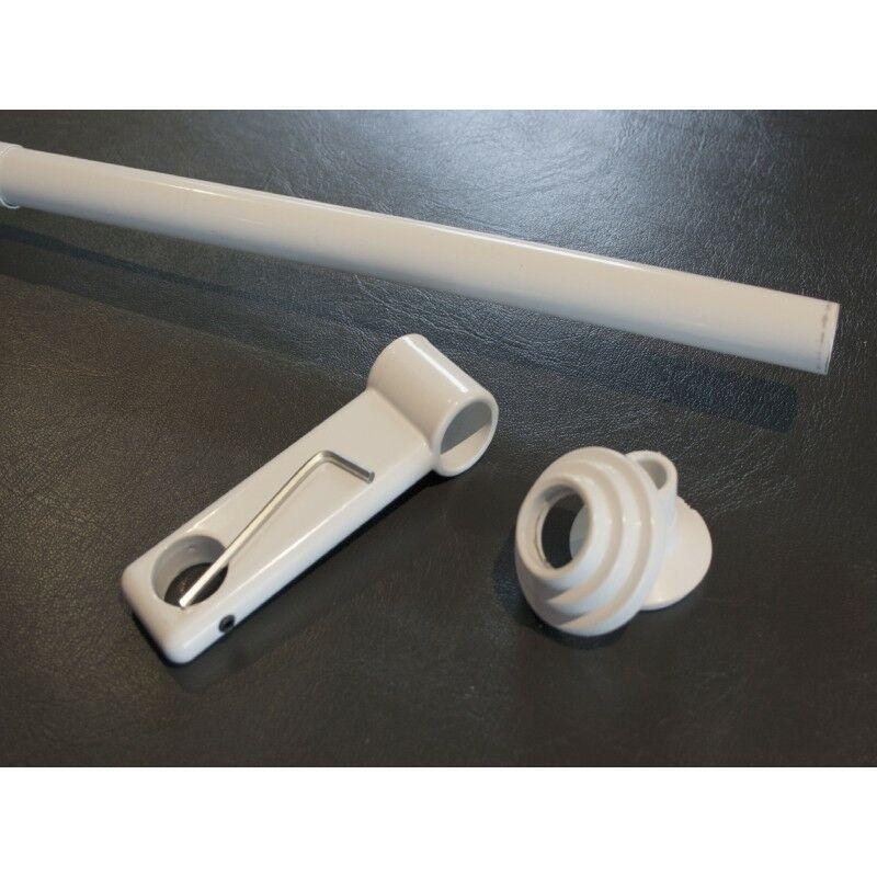 1 Barre Télescopique Du Sol Au Plafond Sans Perçage De 2m à 3m Blanc Laqué