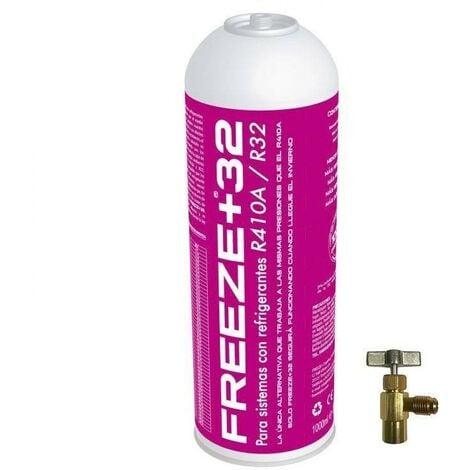 "main image of ""1 Botella Gas Ecologico Refrigerante Freeze Organico +32 350Gr + Valvula Sustituto R32, R410A"""