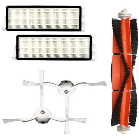 1 brosse principale + 2 brosses laterales + 2 filtres Accessoires d'aspirateur Xiaomi pour T4 T6 S5 S6 S50 S51 S1