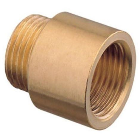 "1"" Bsp Pipe Thread Extension Female x Male Cast Iron Brass - 10mm Long"