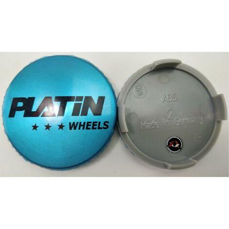 1 Cache Moyeu plat avec logo argent compatible avec Jante P72 - Ext 60mm