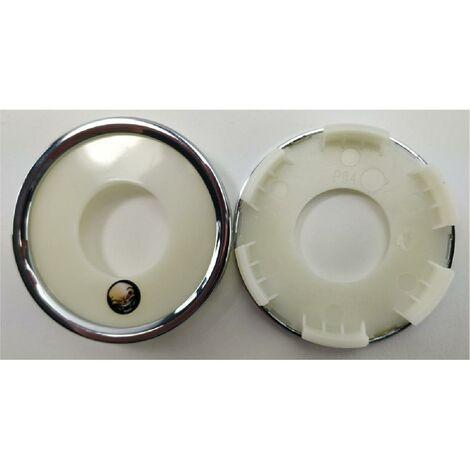 1 Cache moyeu plat sans sticker compatible avec jante P53 P56 P58 P60 - Ext 60mm - Int 50mm